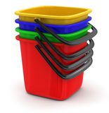 Buckets (clipping path included) Royalty Free Stock Photos