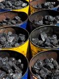 Buckets of Coal Stock Photography