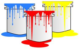 Buckets of color Royalty Free Stock Images