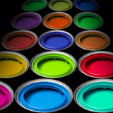 Buckets of colors Royalty Free Stock Photography