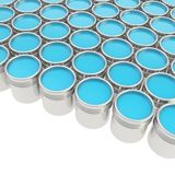 Buckets full of paint over white background Royalty Free Stock Photo