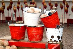 Buckets in a Fun Fair Royalty Free Stock Images