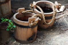 buckets gammalt royaltyfri foto