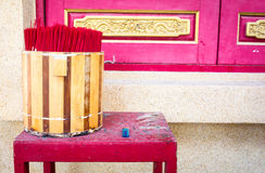 Buckets of incense Buddha and the gods. Stock Photo