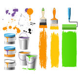 Buckets with paint Stock Images