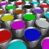 Buckets Of Paint Stock Photo