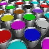 buckets paint Στοκ Εικόνες