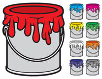 Buckets of paint Royalty Free Stock Photos