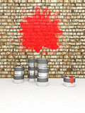 Buckets with paint Royalty Free Stock Photo