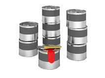 Buckets with paint Royalty Free Stock Photos
