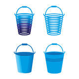 Buckets. A set of different buckets Royalty Free Stock Image