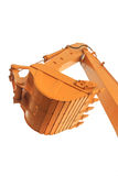The buckets/shovels of heavy construction machine isolated on th Royalty Free Stock Image