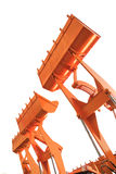 The buckets/shovels of heavy construction machine isolated on th Stock Photography