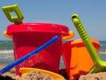 buckets spadar Arkivfoton