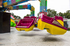 Buckets For Spinning Ride At Local County Fair Royalty Free Stock Images