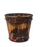 Buckets on a white background. Royalty Free Stock Photo