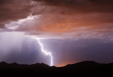 Buckeye Foothill Lightning Royalty Free Stock Photography
