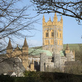 Buckfast Abbey Church och kloster i södra Devon UK Royaltyfria Foton