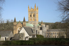 Buckfast Abbey Church och kloster i södra Devon UK Royaltyfria Bilder