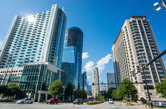 Buckhead, the uptown section of Atlanta, Georgia. Royalty Free Stock Photography