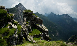 The Buckhorn Ridge of Qinling Mountain Stock Image