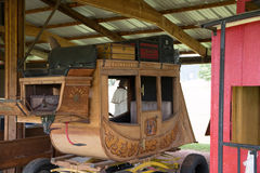 Buckhorn Stage Line Stagecoach. In Masonville, CO Stock Image