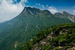 Buckhornen Ridge av det Qinling berg Royaltyfri Foto
