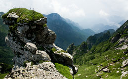 Buckhornen Ridge av det Qinling berg Arkivbilder