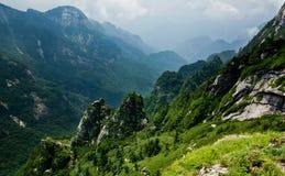 Buckhornen Ridge av det Qinling berg Arkivbild