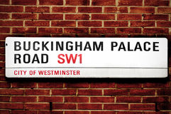 buckingham王国伦敦团结的宫殿路 图库摄影