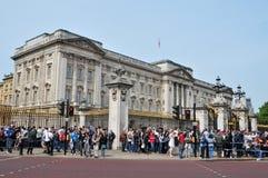 buckingham王国团结的伦敦宫殿 库存照片