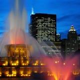buckingham纪念芝加哥的喷泉 免版税库存照片