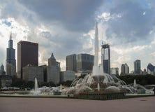 buckingham芝加哥喷泉授予公园 免版税库存图片