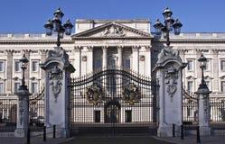 buckingham门面宫殿 免版税图库摄影