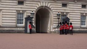 buckingham παλάτι του Λονδίνου απόθεμα βίντεο