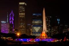 buckingham πηγή του Σικάγου στοκ φωτογραφία