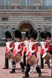 buckingham更改卫兵宫殿 免版税库存图片