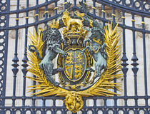 buckingham门宫殿皇家密封 库存图片