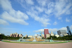 Buckingham-Brunnen Grant Park Chicago, Staaten von Amerika Lizenzfreie Stockbilder