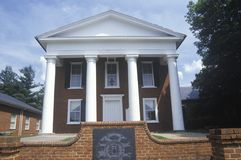 Buckingham Courthouse, designed by Thomas Jefferson, Charlottesville, Virginia Royalty Free Stock Photo