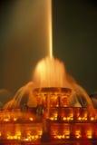 Buckingham fontanna w Grant parku przy nocą, Chicago, Illinois Obraz Stock