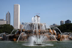 Buckingham Fountain. Chicago, Illinois, IL Royalty Free Stock Photo
