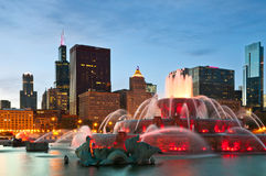 Buckingham Fountain. Image of Buckingham Fountain in Grant Park, Chicago, Illinois, US Royalty Free Stock Images