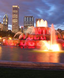 Buckingham Fountain. With cityscape in background Stock Photography
