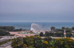 Buckingham Fountain in Chicago royalty free stock photo