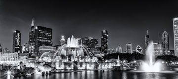 Buckingham Fountain. In Chicago, Il.  Perfect place to take in a breathtaking view of the city and fountain Royalty Free Stock Image