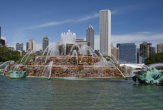 Buckingham Fountain, Chicago Ilinois. Chicago's Buckingham Fountain royalty free stock photo