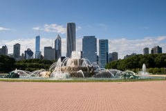Buckingham fountain in chicago Stock Photography