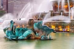 Buckingham fountain in Grant Park, Chicago Royalty Free Stock Photos