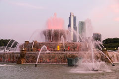 Buckingham Fountain at Grant Park in Chicago,  Illinois Royalty Free Stock Photo